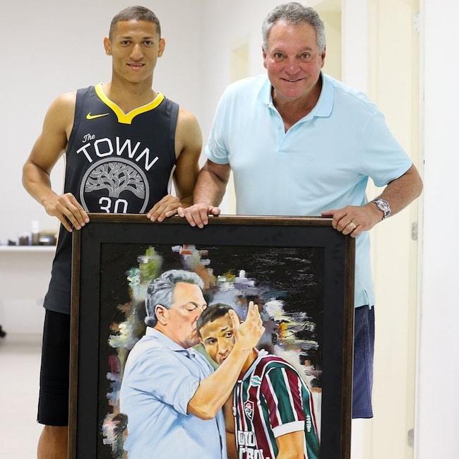 Richarlison with his dad Antônio Carlos Andrade in May 2018