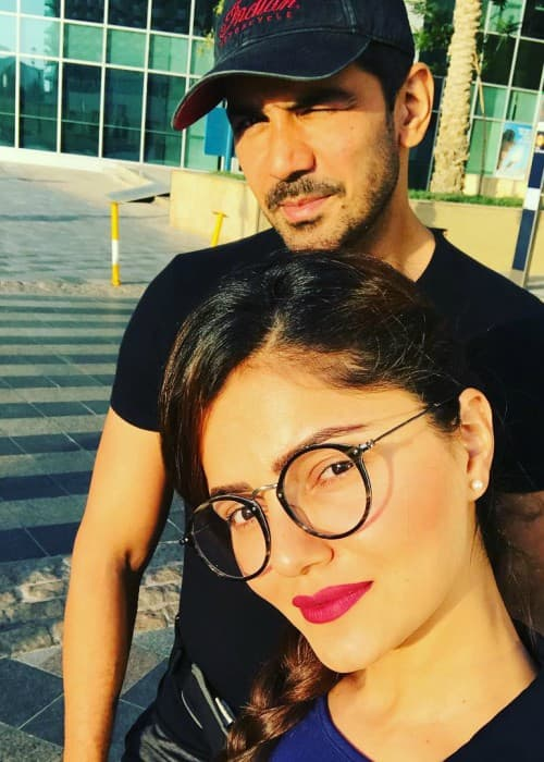 Rubina Dilaik and Abhinav Shukla in a selfie in June 2018
