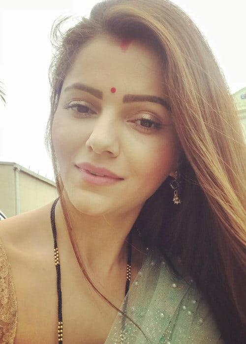 Rubina Dilaik in an Instagram selfie as seen in July 2018