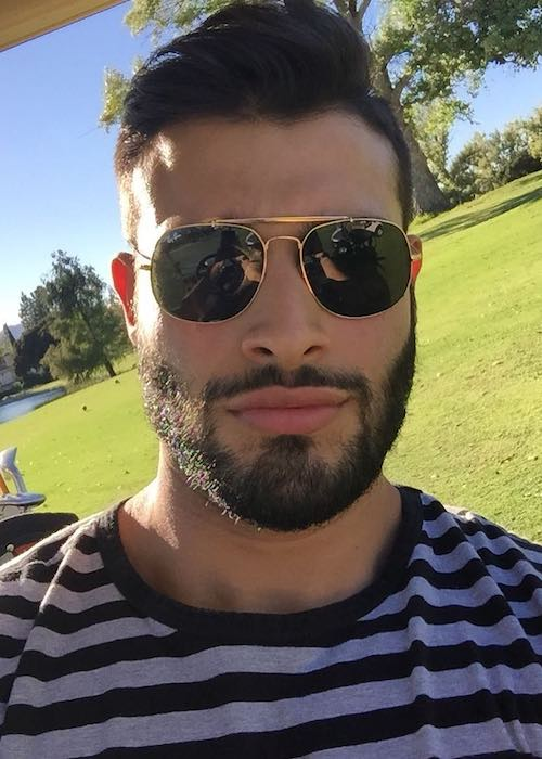Sam Asghari at a golf course in October 2017
