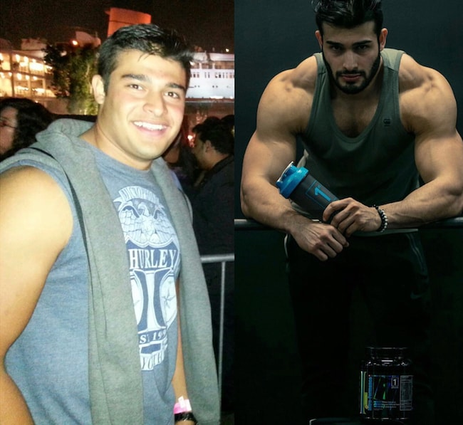 Sam Asghari body transformation from flab to fab