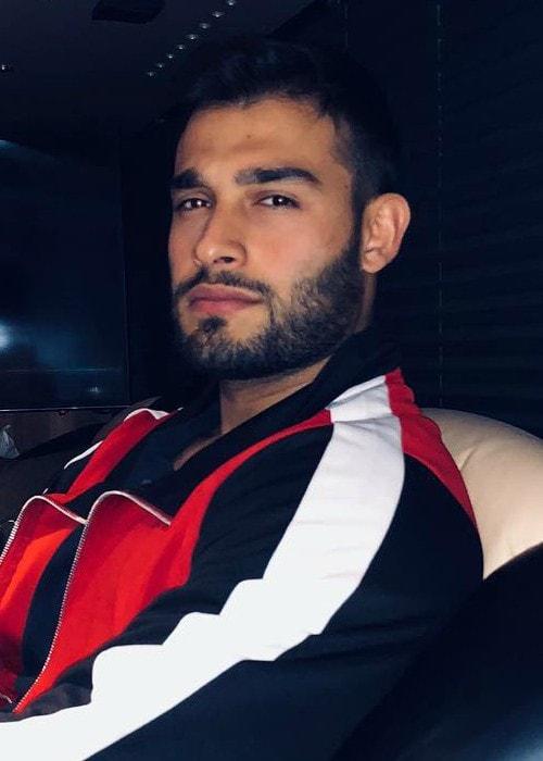 Sam Asghari in an Instagram post as seen in August 2018