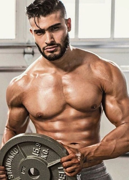 Sam Asghari muscular body