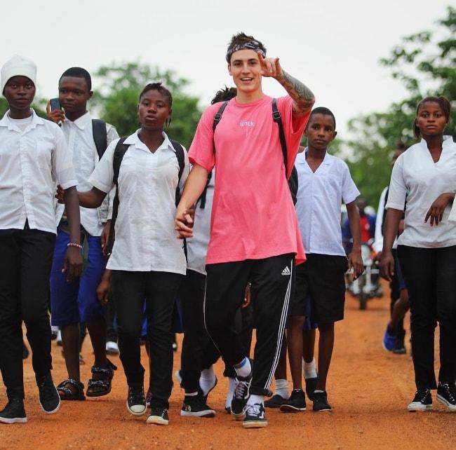 Sam Wilkinson at Freetown, Sierra Leone in July 2017