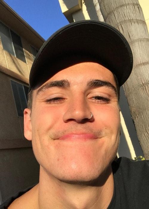 Sam Wilkinson in a selfie in May 2018