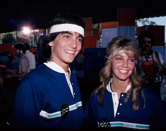 Scott Baio and Heather Locklear in an old picture