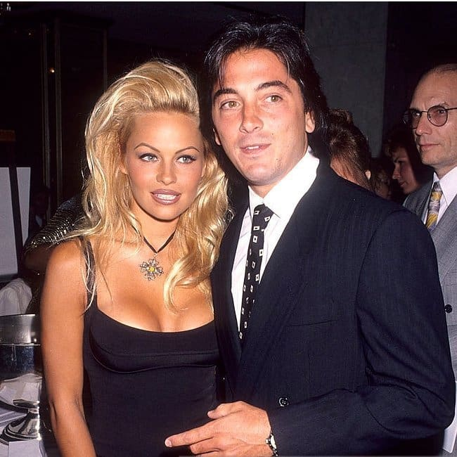 Scott Baio and Pamela Anderson during the 1990s