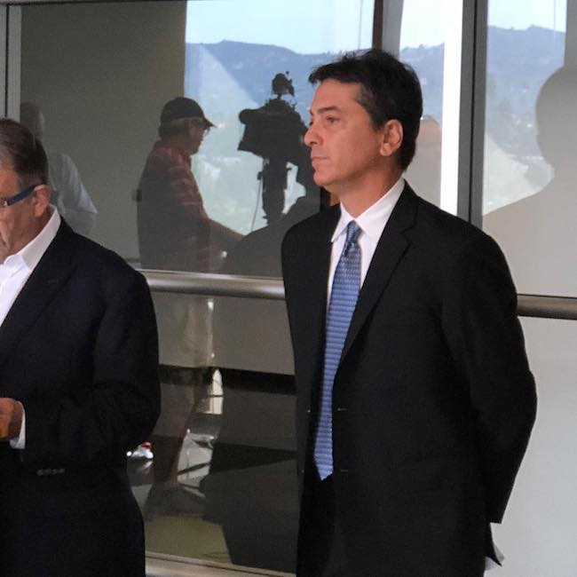 Scott Baio during a news conference in 2018