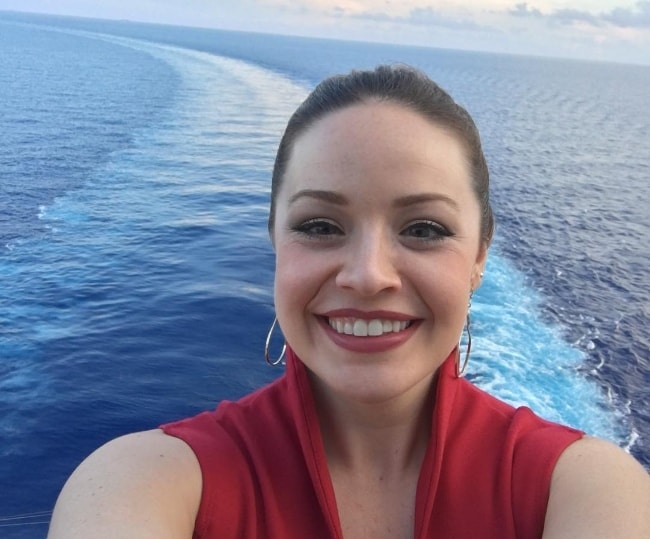 Shelley Regner in a selfie capturing herself and the horizon in July 2018