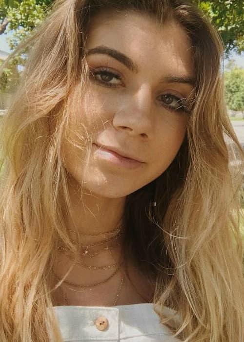 Siena Mirabella in an Instagram selfie as seen in May 2018