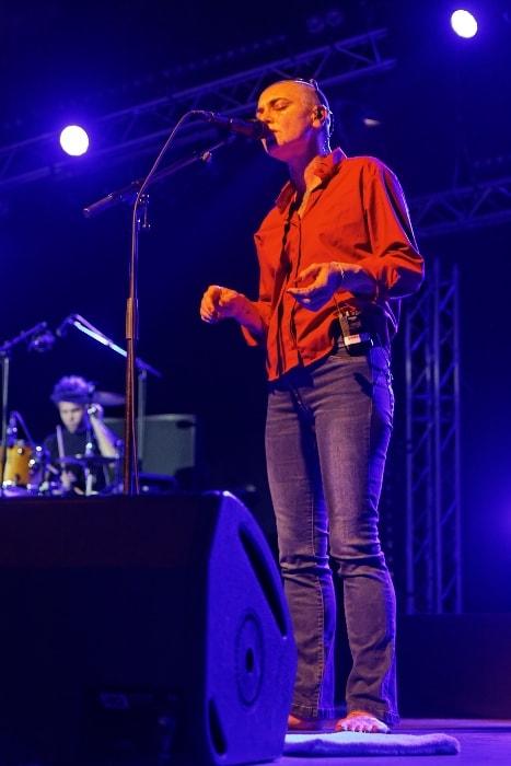 Sinéad O'Connor as seen during the concert at Festival de Cornouaille in 2014