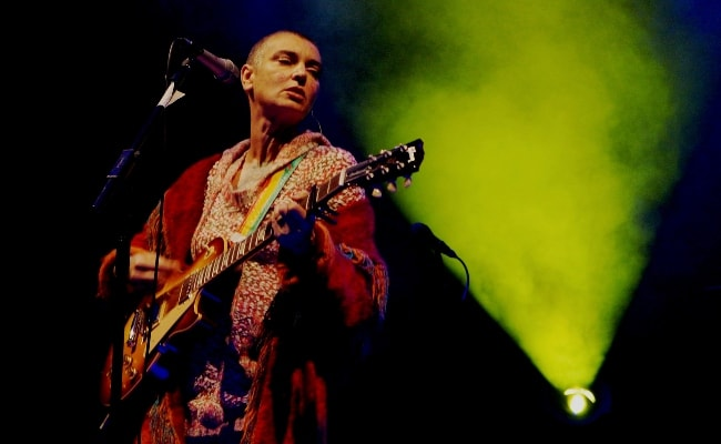 Sinéad O'Connor performing at Ramsbottom Music Festival in September 2013
