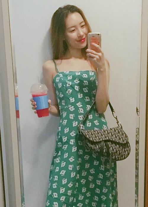 Sunmi in a selfie in July 2018