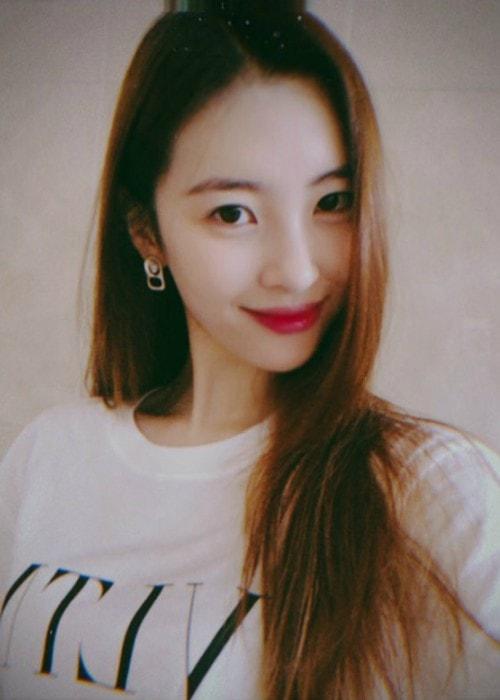 Sunmi in an Instagram selfie as seen in August 2018