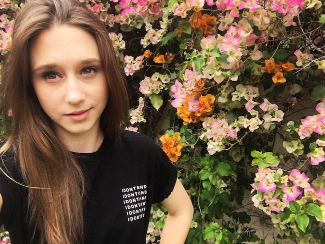 Taissa Farmiga talking about her mental health in May 2018