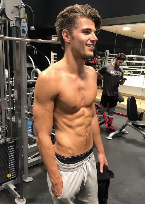 Twan Kuyper as seen at the gym in July 2018