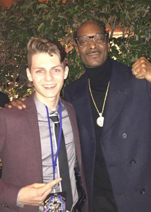 Ty Simpkins (Left) and Snoop Dogg as seen in January 2018