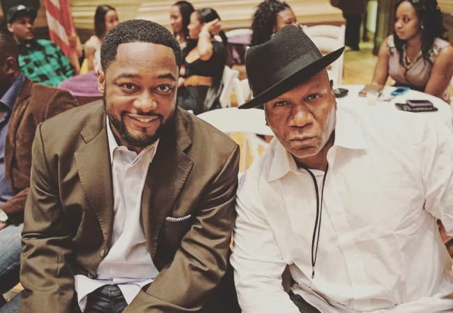 Ving Rhames (Right) and Mike Tomlin as seen in 2018