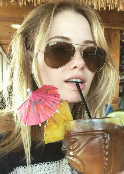 Virginia Gardner in an Instagram selfie as seen in March 2018