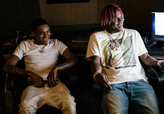 YBN Almighty Jay (Left) and Lil Yachty as seen in July 2018