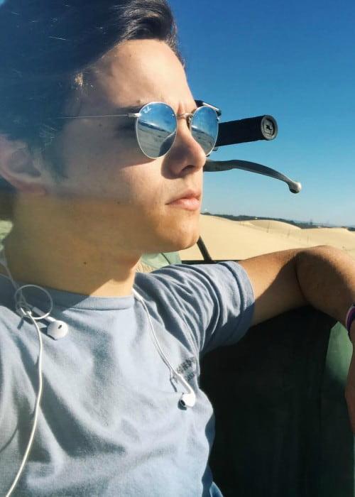 Zach Callison in an Instagram post as seen in October 2017