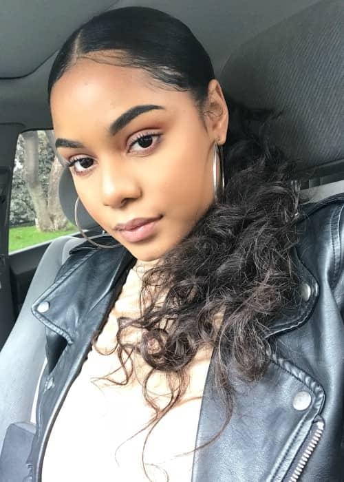 Aanysa in a selfie in January 2018