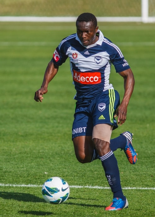 Adama Traoré as seen in September 2012 during a match between the Central Coast Mariners and Melbourne Victory