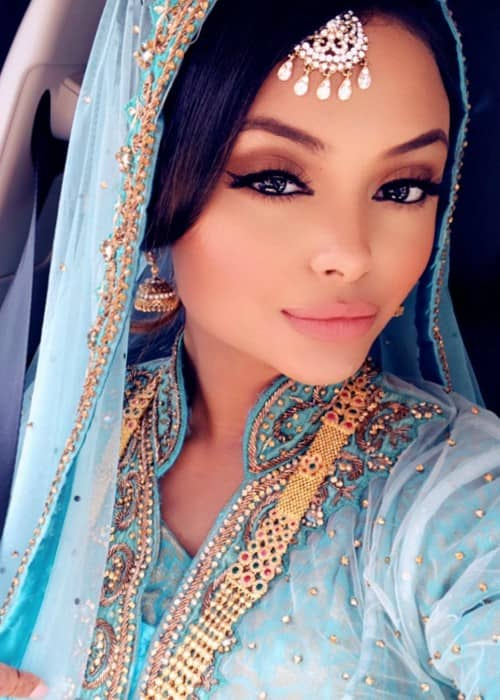 Afshan Azad in a selfie in August 2018