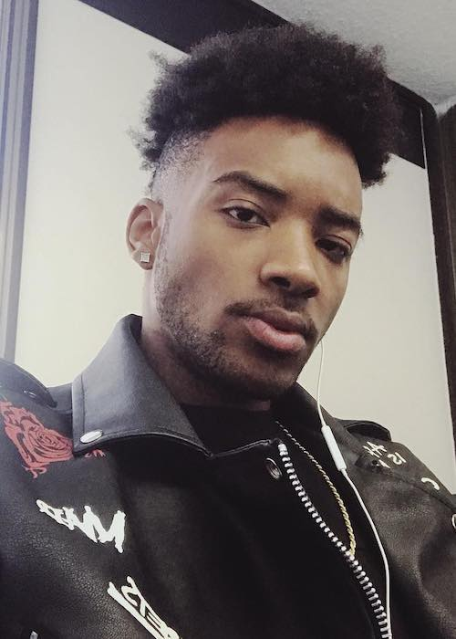 Algee Smith in an Instagram selfie in March 2018