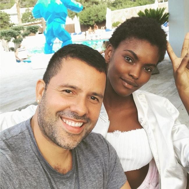 Amilna Estevão with photographer Mariano Vivanco in August 2017