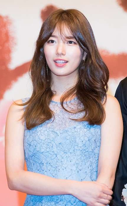 "Bae Suzy during ""Uncontrollably Fond"" press conference in July 2016"