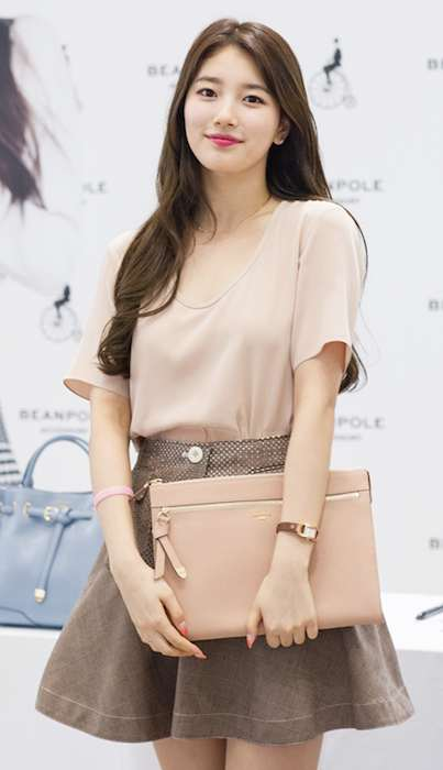 Bae Suzy during a fan meeting for Bean Pole in July 2014