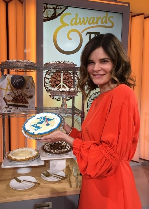 Betsy Brandt as seen on 'Pi Day' in March 2017