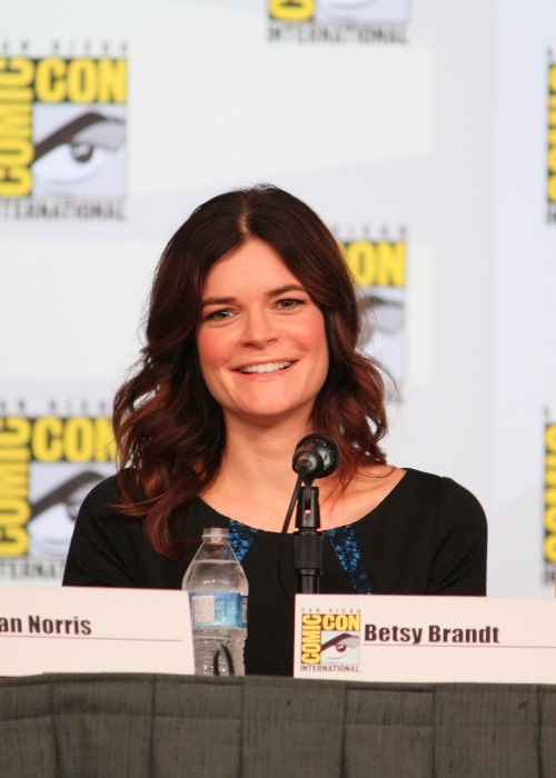 Betsy Brandt at the Comic-Con International 2012