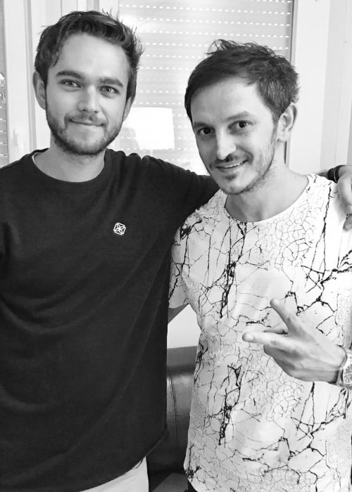 Burak Yeter (Right) with Zedd at Electric Love Festival in July 2017