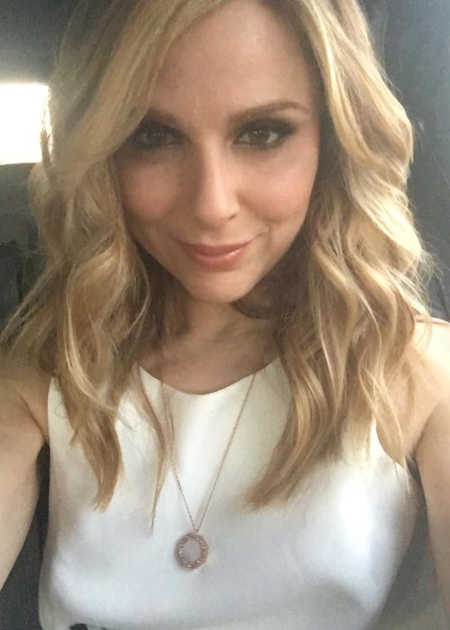 Cara Buono in a selfie in January 2017