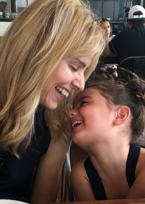 Cara Buono sharing a happy moment with her daughter in July 2018