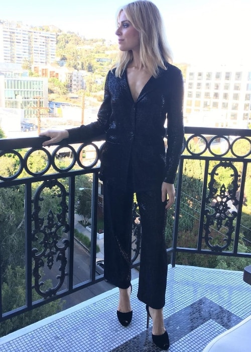 Cara Buono suited up for the Emmy Awards in September 2018