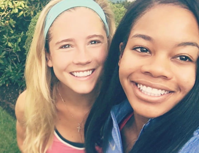 Cassidy Gifford (Left) and Gabby Douglas as seen in August 2016