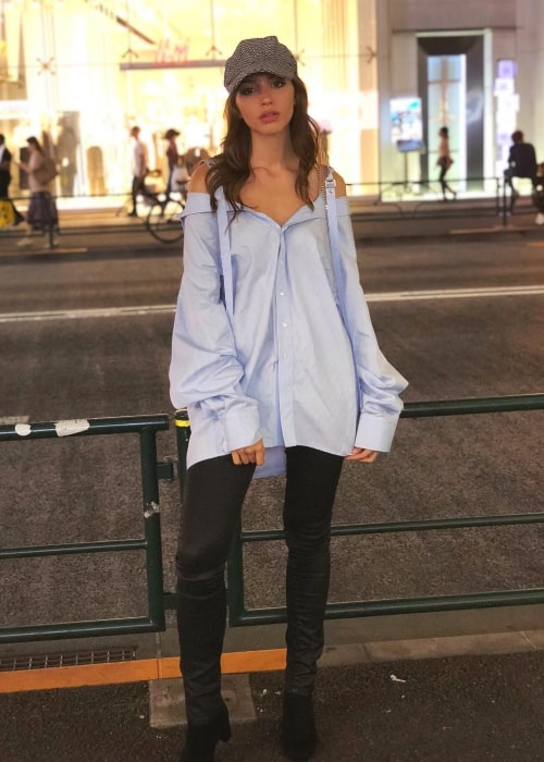 Celine Farach as seen in Harajuku, Japan in July 2018