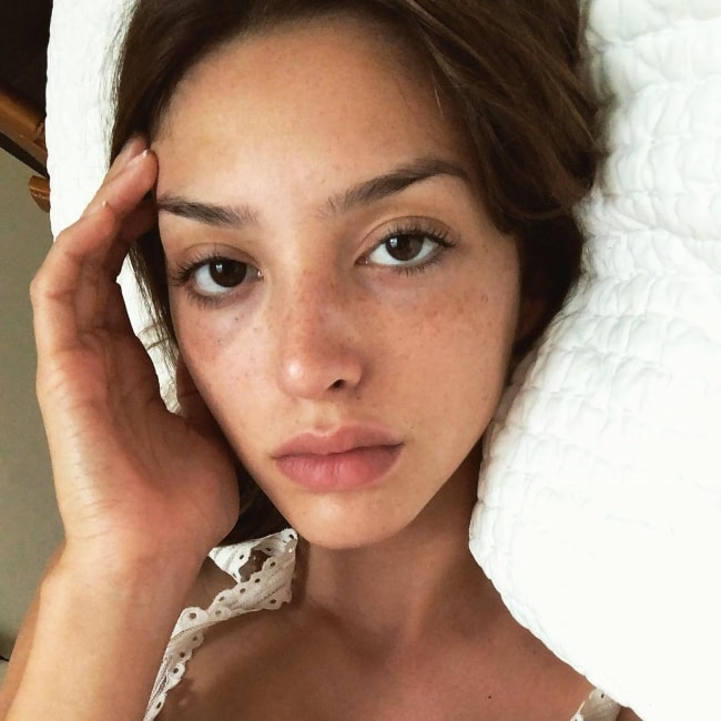 Celine Farach in a no-makeup selfie in June 2018