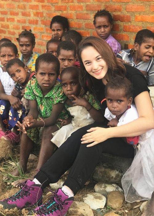 Chelsea Islan in Wamena, Papua, Indonesia in February 2018