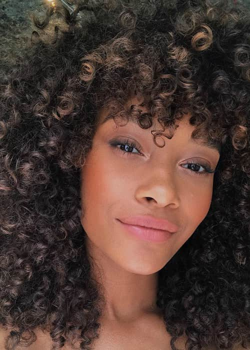 Cheyenne Maya-Carty in an Instagram selfie as seen in August 2018