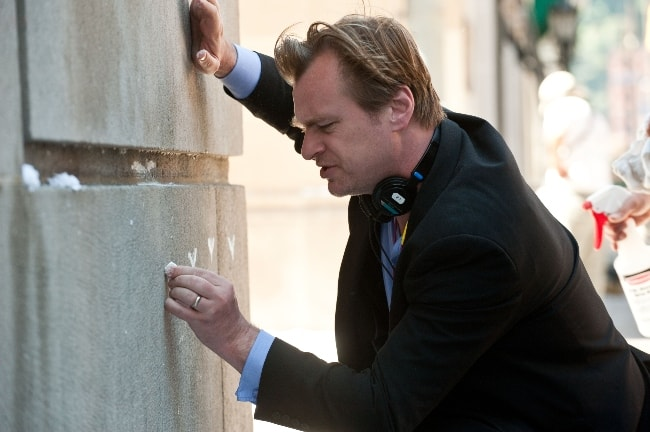 Christopher Nolan on the sets of 'The Dark Knight Rises' in August 2011