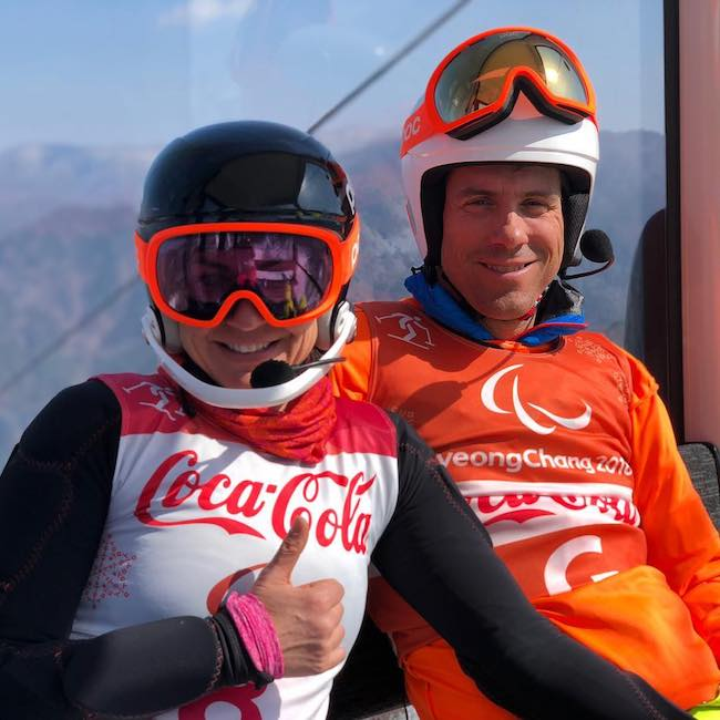 Danelle Umstead with Rob Umstead at South Korea in 2018