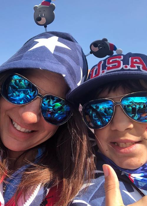 Danelle Umstead with her favorite selfie partner, Brocton Umstead at PyeongChang 2018 Paralympic Games