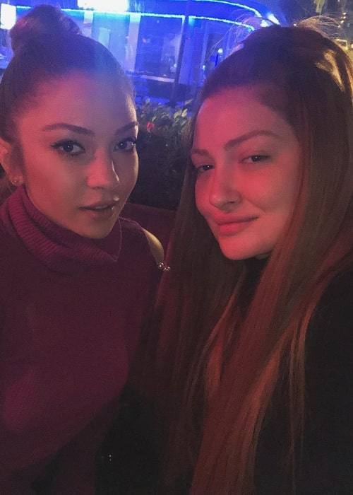 Danla Bilic (Right) during a night out with Ece Seçkin in February 2018