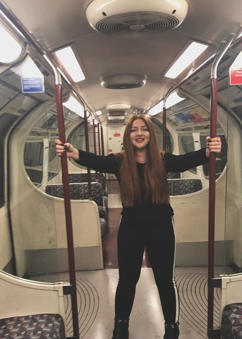 Danla Bilic as seen while riding the Jubilee Line Train Stanmore in Stratford in January 2018