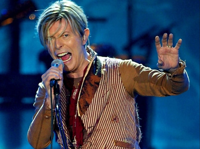 David Bowie as seen during one of his performances