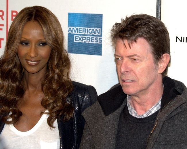 David Bowie with Iman at the 2009 premiere of the movie Moon at Tribeca Film Festival